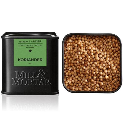 Korianderfrø hele Øko fra Mill & Mortar - 35 gram