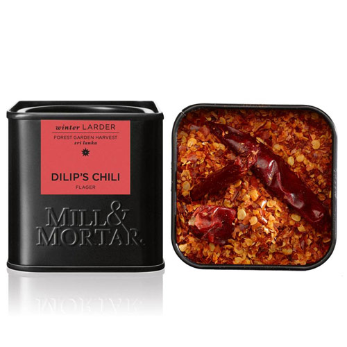 Chilli flager Dilip´s Ø fra Mill & Mortar - 45 gr