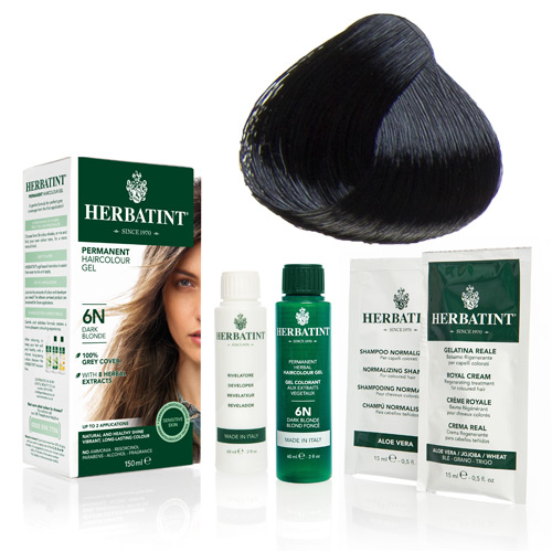 Herbatint 1N hårfarve Black - 135 ml