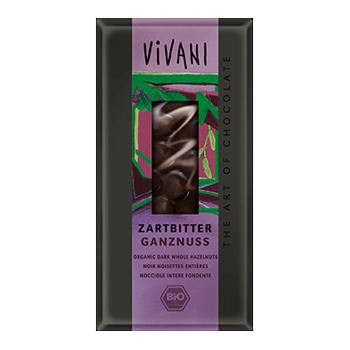 Image of Vivani chokolade med hele nødder Øko - 100 gram
