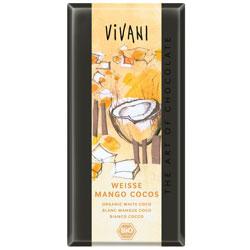 Vivani hvid mango kokos chokolade Ø - 100 g
