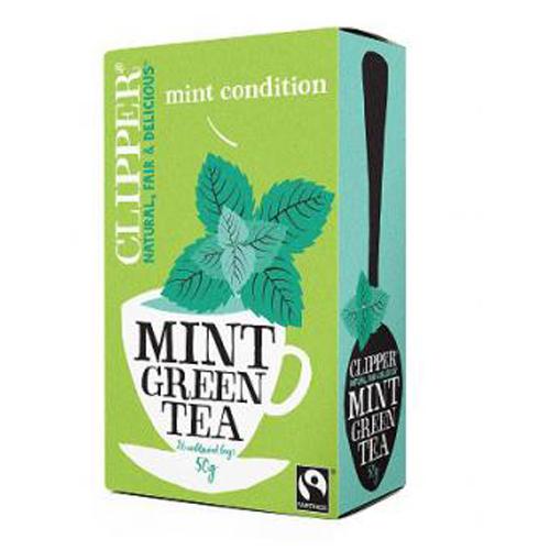 Clipper Grøn te med mint Økologisk - 20 breve