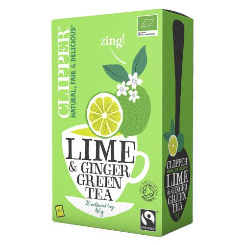 Clipper Grøn Te med Lime & Ingefær Øko - 20 breve
