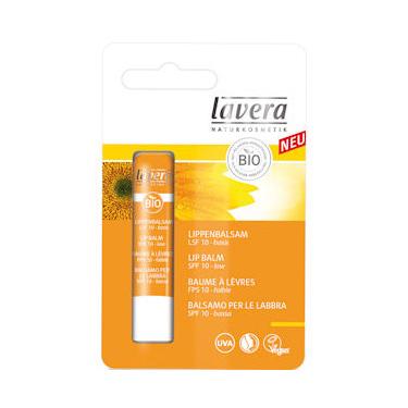 Solbeskyttende læbepomade Lavera SPF10 - 4g