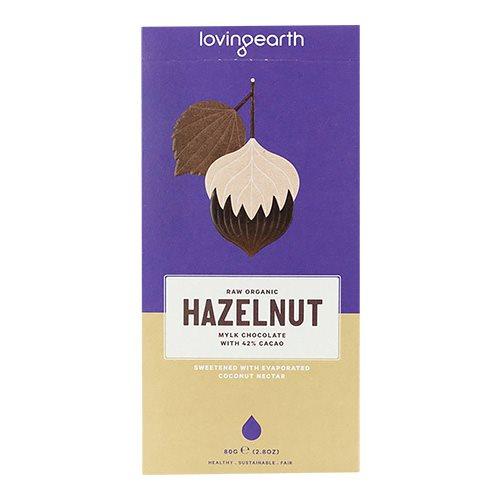 Image of Chokolade Hazelnut 42% Lovin Earth Ø - 80 gram