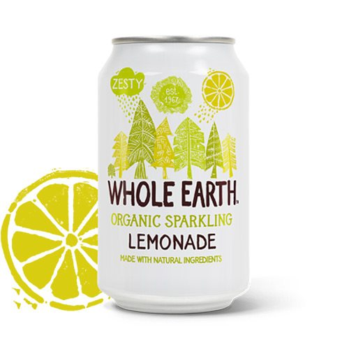 Image of   Sodavand Whole Earth Lemonade økologisk - 330 ml.