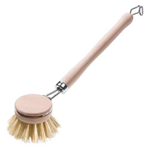 Image of Opvaskebørste med udskiftelig træbørste - 1 stk.