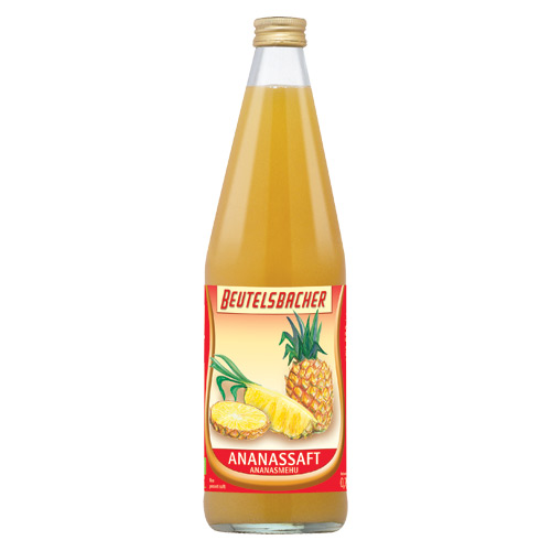 Image of Ananassaft Beutelsbacher Øko - 750 ml.