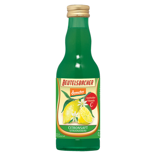 Image of Citronsaft Beutelsbacher Demeter Øko - 200 ml.