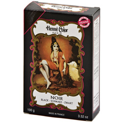 Image of   Henna Hårfarve Sort - Pulver 100 gram