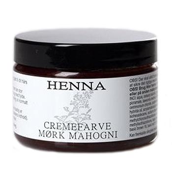 Image of   Henna Hårfarve Creme Mahogni Mørk - 140 ml