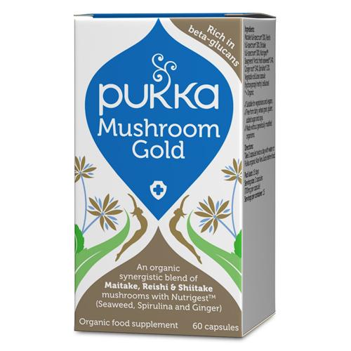 Image of   Pukka Mushroom Gold - 60 kapsler