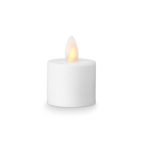 Image of LeveLys LED Fyrfadslys Hvid 3,6 x 3,1 cm - 1 stk