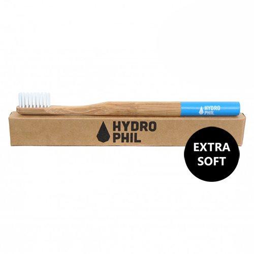 Image of Tandbørste soft bambus blå fra Hydrophil - 1 stk.