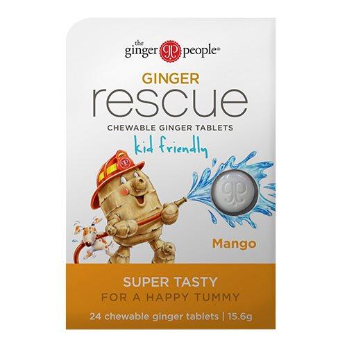 Image of Ginger rescue mango ingefærpastiller - 24 stk.