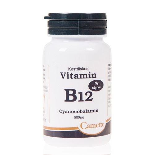 Image of   Camette Vitamin B12 cyanocobalamin 500mcg (90 tab)