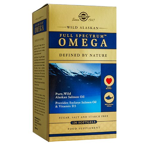 Image of   Wild alaskan full spectrum Omega Oil - 120 kapsler