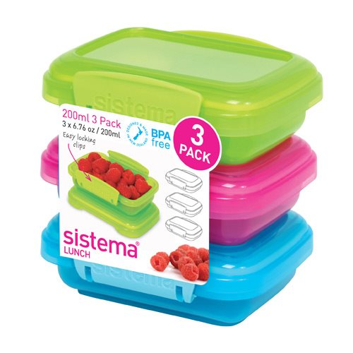 Image of Sistema Opbevaringsboks 3-pack 200 ml.