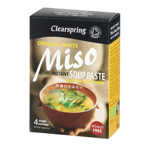 Miso Soup Paste hvid tang Økologisk - 4x15g