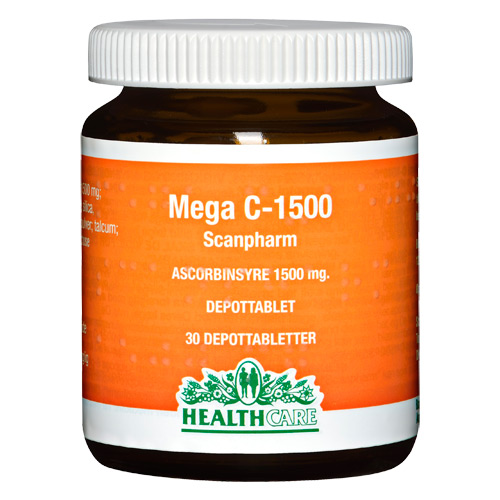 Image of Mega C 1500 mg Health Care - 30 Tabletter