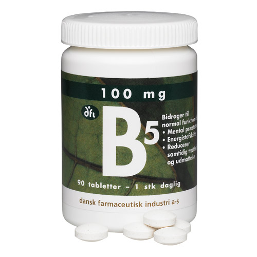 Image of   B5 depottablet 100 mg - 90 Tabletter