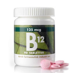 Image of   B12 125 mcg - 90 Tabletter