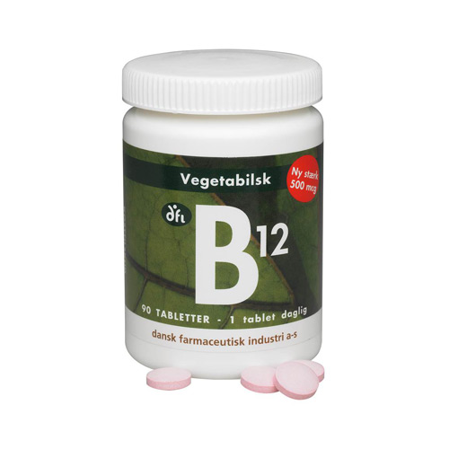 Image of   B12 vitamin 500 mcg - 90 tabletter