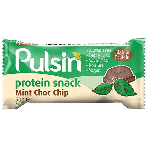 Image of   Pulsin Proteinbar Mint Choc Chip - 50 gr