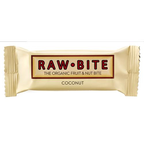 Image of Rawbite Coconut Øko frugt og nøddebar 50 g