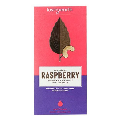 Chokolade Raspberry & cashew Loving Earth Ø - 80 g
