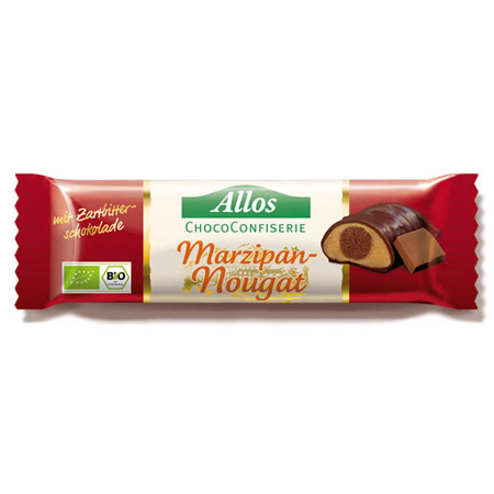 Chokolade bar marcipan & nougat Ø Allos - 35 gram