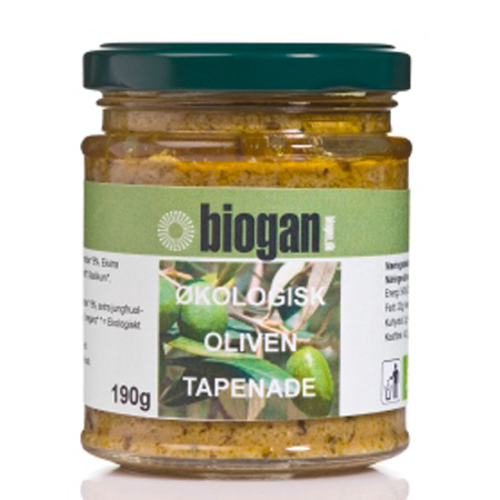 Image of   Oliven tapenade økologisk fra Biogan - 190 gram