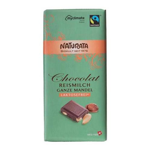 Image of Laktosefri Chokolade mandel fra Naturata Ø 100 g