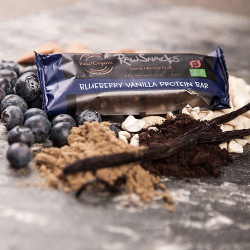Proteinbar med blåbær & vanille økologisk 40 gram