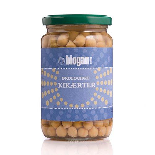 Image of   Kikærter i glas fra Biogan Økologiske - 330 gram