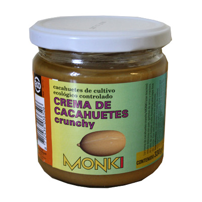 Jordnøddesmør crunch fra Monki Øko - 330 gram