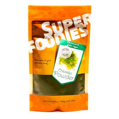 Chlorella pulver Super Foodies - 100 gram