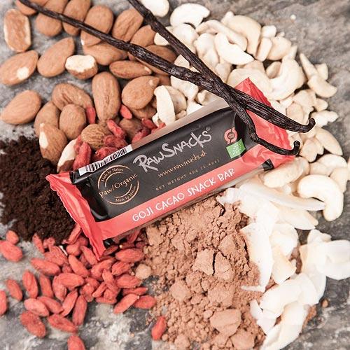 Image of Snackbar med gojibær & kakao økologisk - 40 gram