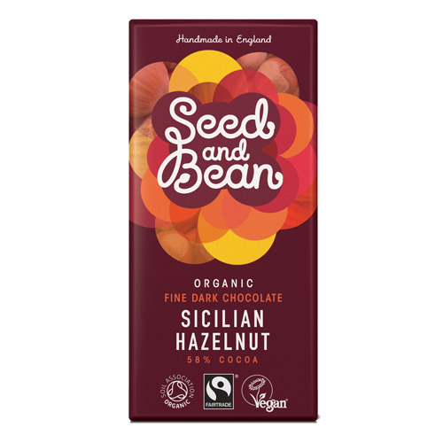 Image of Mørk Chokolade 58% Hasselnød Seed & Bean Ø 85g