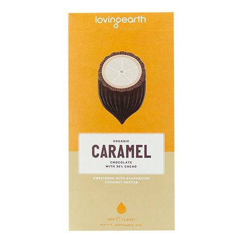 Chokolade Caramel cashew-kokos Loving Earth Ø 80 g