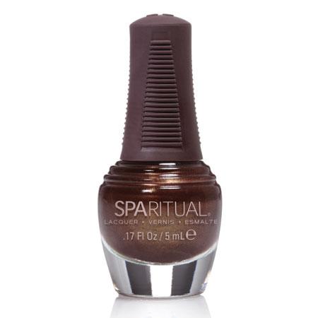 Image of Sparitual Mini-Neglelak mørkebrun perlemor - 5 ml.