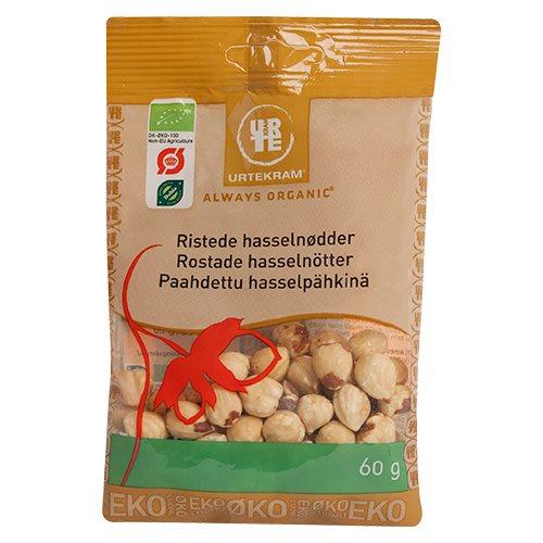 Hasselnødder ristede fra Urtekram Øko - 60 gram