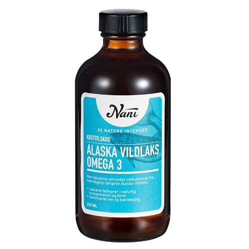 Omega 3 Alaska vildlaks olie fra Nani - 237 ml.