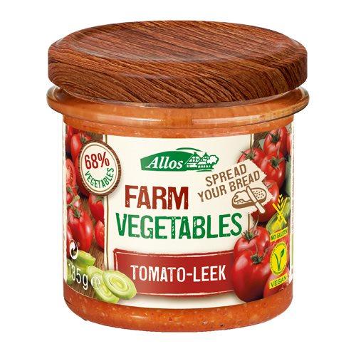 Image of Smørepålæg Tomat & Porre fra Allos Øko - 135 gram
