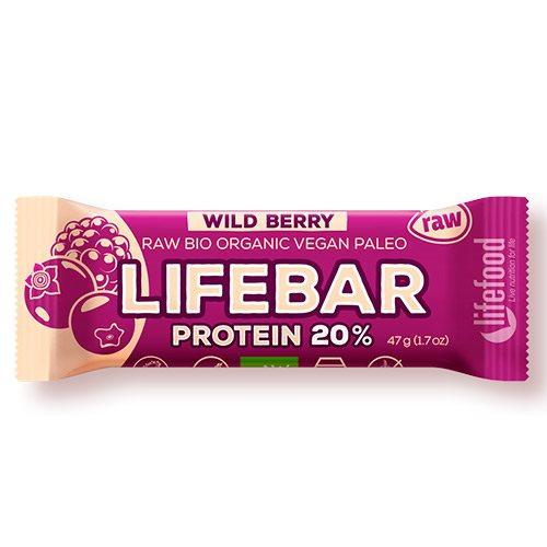 Billede af LifeFood LifeBar WildBerry Proteinbar Ø (47 g)