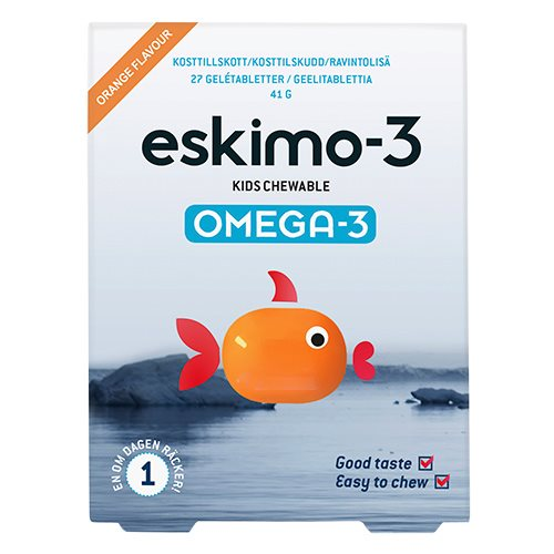 Image of   Eskimo-3 Kids Chewable Omega 3 - 27 stk.