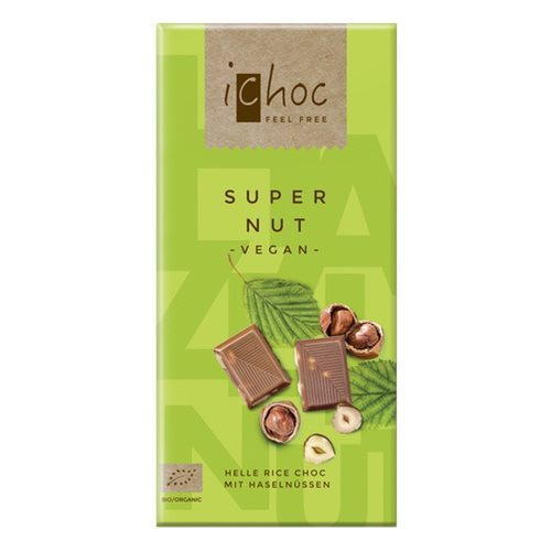 Image of Ichoc super nut vegansk øko chokolade - 80 gram