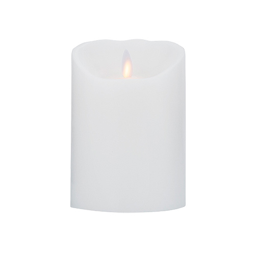 Image of LeveLys LED Stearinlys Ø 8x12,5cm hvid glat