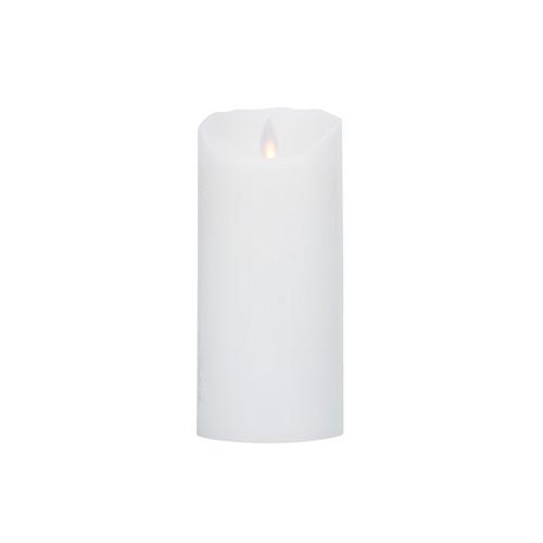 Image of LeveLys LED Stearinlys Ø8x18cm hvid frostet