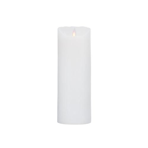 Image of LeveLys LED Stearinlys Ø8x23cm hvid frostet